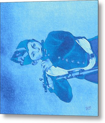 Metal Print featuring the painting Hommage To Manet - The Wrongheaded Fifer By Briex by Nop Briex