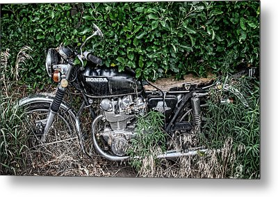 Honda 450 Motorcycle Metal Print by Britt Runyon