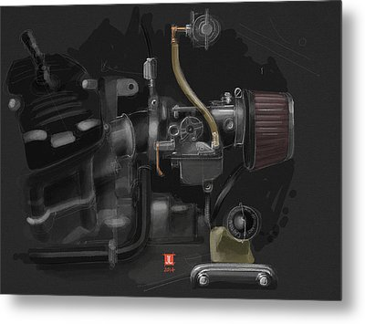 Honda Cx500 Carb Metal Print