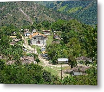 Honduras Mountain Village Metal Print by Lew Davis