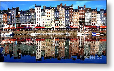 Metal Print featuring the photograph Long Horizontal Abstract - Honfleur Artists Village  by Jacqueline M Lewis