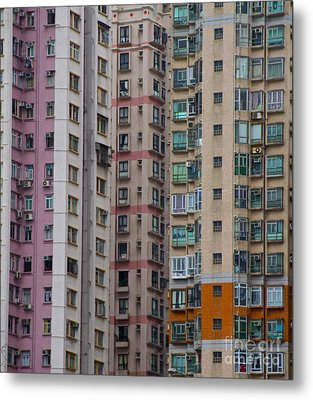 Hong Kong Buildings  Metal Print