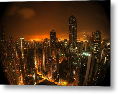 Metal Print featuring the photograph Hong Kong Gotham by Peter Thoeny