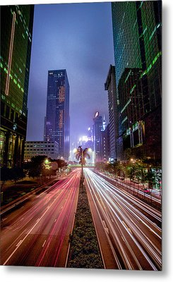 Metal Print featuring the photograph Hong Kong Highway by Robert  Aycock