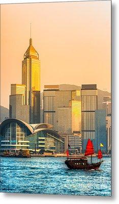 Hong Kong. Metal Print by Luciano Mortula