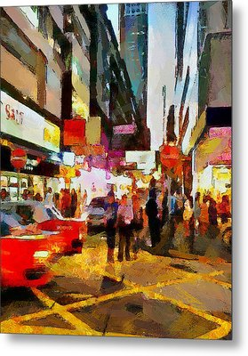 Hong Kong Night Lights 2 Metal Print by Yury Malkov