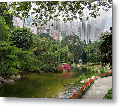 Metal Print featuring the photograph Hong Kong Park by Art Photography
