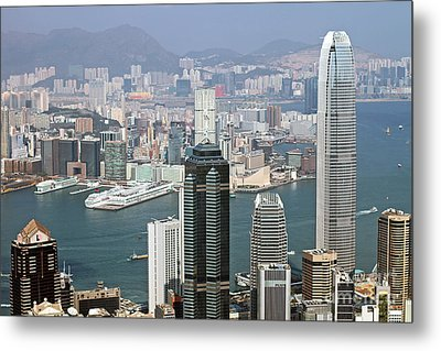 Hong Kong Skyline Metal Print by Lars Ruecker