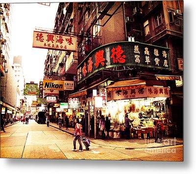 Hong Kong Street Metal Print by Ernst Cerjak