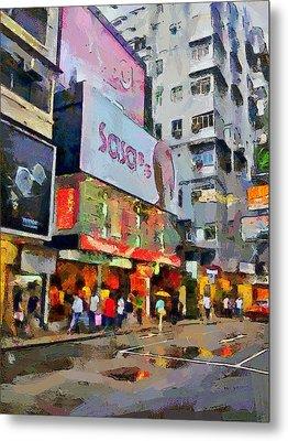Hong Kong Streets 2 Metal Print by Yury Malkov