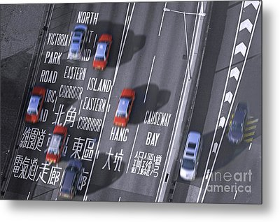 Hong Kong Taxi Metal Print by Lars Ruecker