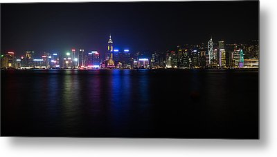 Hong Kong Waterfront Metal Print
