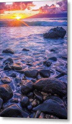 Honolua Sunset Metal Print by Hawaii  Fine Art Photography