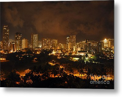 Metal Print featuring the photograph Honolulu Glow by Gina Savage