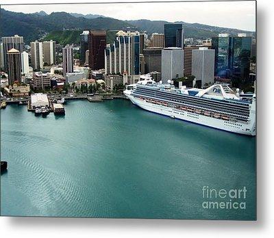 Honolulu Port Metal Print by Brigitte Emme