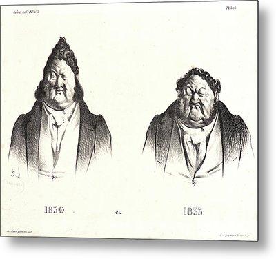 Honoré Daumier French, 1808 - 1879. 1830 Et 1833 Metal Print