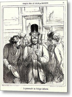 Honoré Daumier French, 1808 - 1879. La Promenade Du Metal Print