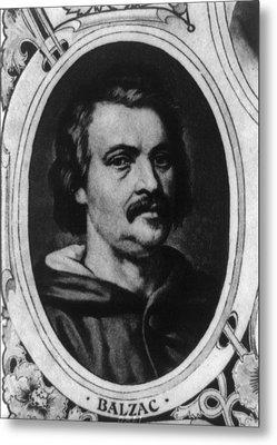Honor� De Balzac 1799-1850, French Metal Print