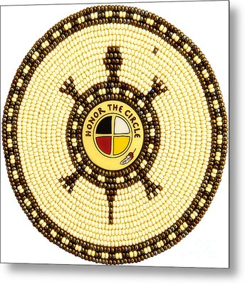 Honor The Circle Metal Print