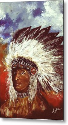 Honorable Chief Metal Print