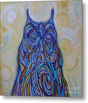 Hoo Are You? Metal Print by Michael Ciccotello