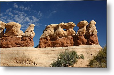 Hoodoos In Devils Garden In Grand Staircase Escalante National Monument Metal Print