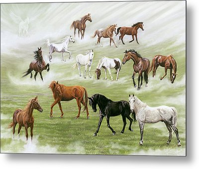 Hoofbeats In Heaven Metal Print
