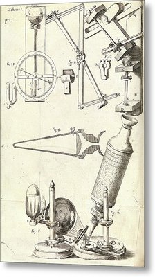 Hooke's Microscope And Equipment Metal Print