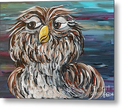 Hoo's Your Daddy Metal Print by Eloise Schneider