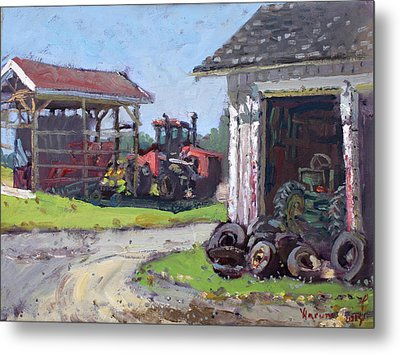 Hoover Farm In Sanborn Metal Print by Ylli Haruni