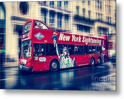 hop on hop off  through NYC Metal Print by Hannes Cmarits