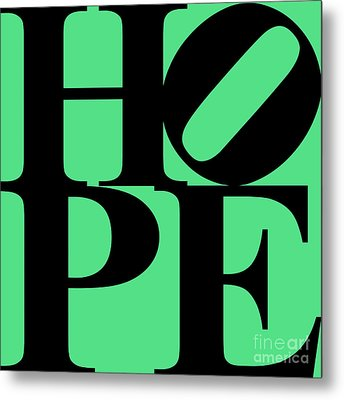 Hope 20130710 Black Green Metal Print by Wingsdomain Art and Photography