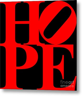 Hope 20130710 Red Black Metal Print by Wingsdomain Art and Photography