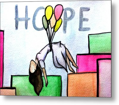 Hope Afloat  Metal Print by Kiara Reynolds