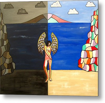 Hope And Despair Metal Print by Sandra Marie Adams