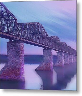 Hope Bridge Soft Metal Print by Tony Rubino