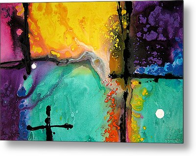 Hope - Colorful Abstract Art By Sharon Cummings Metal Print by Sharon Cummings