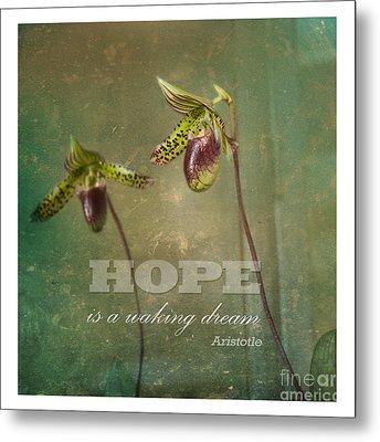 Hope Is Metal Print by Sally Simon