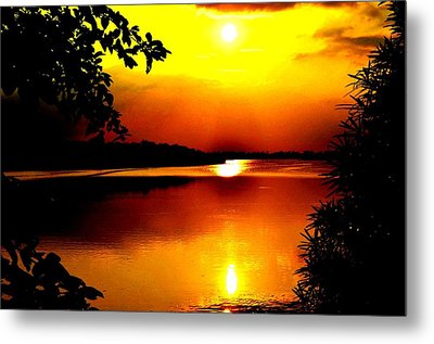Hope Is Still There Sunset Metal Print