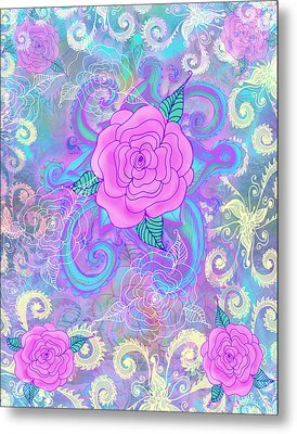 Hope Roses Metal Print by Alixandra Mullins