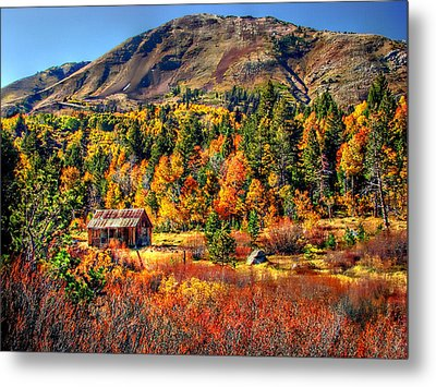 Hope Valley Fall Color Metal Print by Scott McGuire