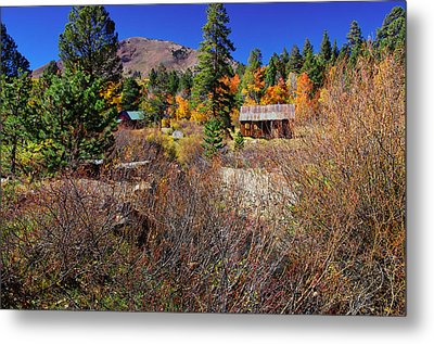 Hope Valley Fall Colors Metal Print by Scott McGuire