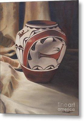 Hopi Pottery Metal Print by Barbara Barber
