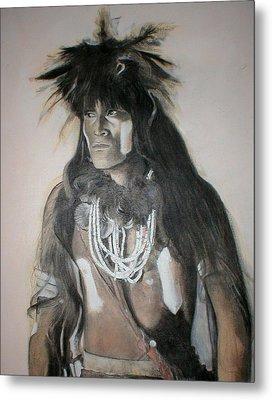 Hopi Snake Priest Metal Print by Terri Ana Stokes
