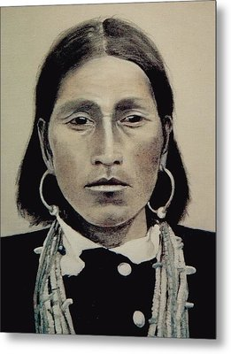 Hopi Woman Of The First Light Metal Print