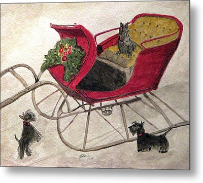 Hoping For A Sleigh Ride Metal Print by Angela Davies