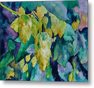 Hops Metal Print by Beverley Harper Tinsley
