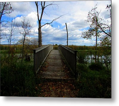 Horicon Bridge In Autumn Metal Print by Kimberly Mackowski