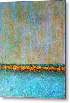 Metal Print featuring the painting Horizontal Reef by Jim Whalen