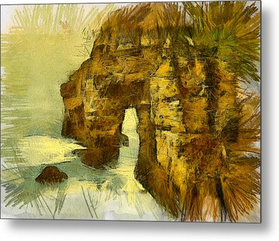 Horn Head Temple Arch Metal Print by Unknown